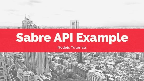 Sabre API Example